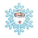 SnowFlake Emoticon - Smooch Stock Photography