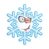 SnowFlake Emoticon - Wink Stock Image