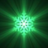 snowflake för julsignalljusklartecken royaltyfri illustrationer