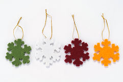 Snowflake fabric Royalty Free Stock Images