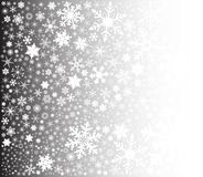 Snowflake Fade. A fountain of christmas snowflakes on a fade background Royalty Free Stock Photography