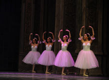 The snowflake Fairy- The second act second field candy Kingdom -The Ballet  Nutcracker Royalty Free Stock Photo