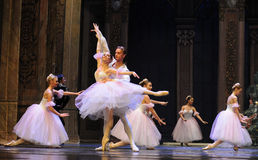 The snowflake Fairy- The second act second field candy Kingdom -The Ballet  Nutcracker Royalty Free Stock Image
