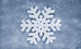 Snowflake, fiber fabric and glitter film, background Royalty Free Stock Photo