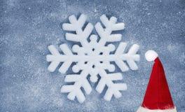 Snowflake, fiber fabric and glitter film, background Stock Photo