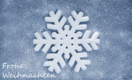Snowflake, fiber fabric and glitter film, background Royalty Free Stock Image