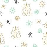 Snowflake and fir christmas tree. Stock Photo