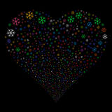 Snowflake Fireworks Heart Stock Images