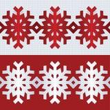 Snowflake flat border line. Vector illustration. Stock Image