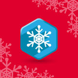 Snowflake flat now Royalty Free Stock Photos
