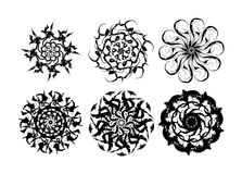 Snowflake and flouwer stock images