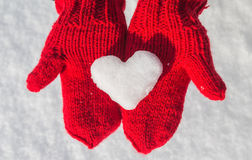 Snowflake in the form of heart Royalty Free Stock Image