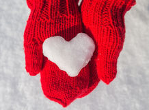 Snowflake in the form of heart Stock Photography