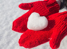 Snowflake in the form of heart Royalty Free Stock Images