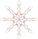 Snowflake of the fractal Royalty Free Stock Photography