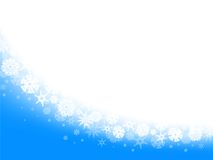 Snowflake frame. With copyspace for your text Royalty Free Stock Image