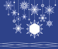 Snowflake frame Royalty Free Stock Photo