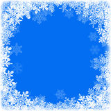 Snowflake frame Royalty Free Stock Image