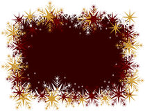 Snowflake frame Stock Photo