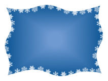 Snowflake Frame. Wavy snowflake frame illustration with copy space Stock Image