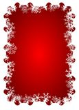 Snowflake Frame. Christmas ornament decoration of snowflake frame Royalty Free Stock Photography