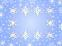 Snowflake frame with background Royalty Free Stock Photography