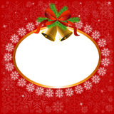 Snowflake frame and bells Royalty Free Stock Photo