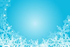 Snowflake Frame, Blue Royalty Free Stock Images