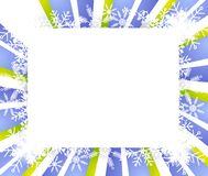 Snowflake Frame or Border 2 Royalty Free Stock Image