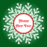 Snowflake Frame. Happy New Year Card. Vector Illustration vector illustration