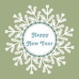 Snowflake Frame. Happy New Year Card. Vector Illustration. Snowflake Frame. Happy New Year Card. Winter Vector Illustration Royalty Free Stock Photos