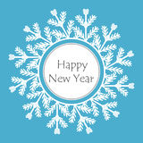 Snowflake frame happy new year  illustration. Snowflake frame happy new year winter  illustration Stock Images