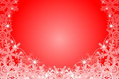 Snowflake Frame, Red Stock Image