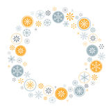 Snowflake frame Stock Photo