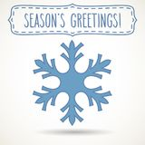 Snowflake frame and Season`s greetings Royalty Free Stock Photo