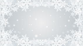 Snowflake frame -silver Stock Images