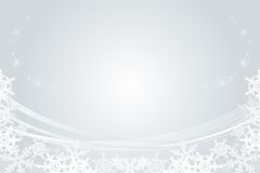 Snowflake Frame, Silver Royalty Free Stock Photo