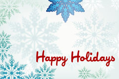 Snowflake frame in soft green and blue Stock Images