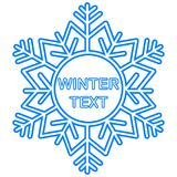 Snowflake frame. Winter theme. New Year s and Christmas. Vector Image. Snowflake frame. Winter theme. New Year s and Christmas. Vector illustration Royalty Free Stock Photo