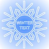 Snowflake frame. Winter theme. New Year s and Christmas. Vector Image. Snowflake frame. Winter theme. New Year s and Christmas. Vector illustration Stock Image