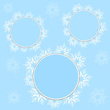 Snowflake frames Royalty Free Stock Image