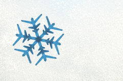 Snowflake on a frozen window Royalty Free Stock Photos