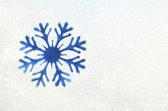 Snowflake on a frozen window Stock Image