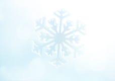 snowflake Fundo dos feriados de inverno Fotos de Stock Royalty Free