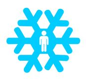 Snowflake generation stock image
