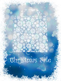 Snowflake gift bag on blue background. EPS 8 Royalty Free Stock Photography