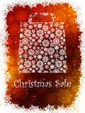 Snowflake gift bag on gold background. EPS 8 Stock Photography