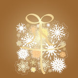 Snowflake gift box Royalty Free Stock Images