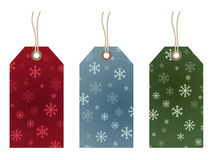 Free Snowflake Gift Tags Stock Image - 11230841