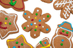 Snowflake gingerbread cookie Royalty Free Stock Photos